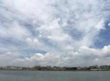 潮州 濱江長廊 藍天白云 風景