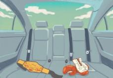 车内场景插画插图