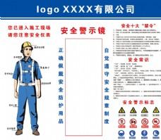 工地安全展板