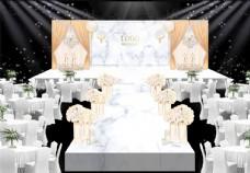 香槟色婚礼效果图