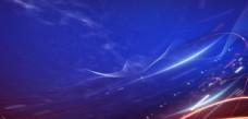 企业年会签到盛典蓝色大气背景