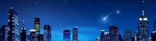 夜晚星空城市