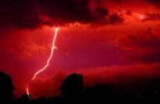闪电霹雳雷电乌云