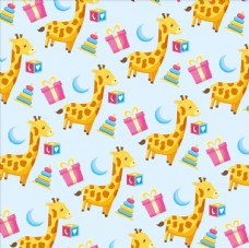 长颈鹿无缝背景