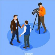 电视传媒采访