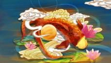 古风中国风国潮壁画国画墙画背景