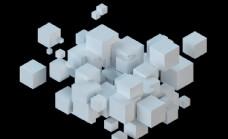 白色几何背景