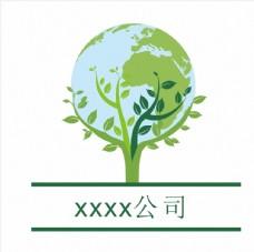 企业logo 地球 环保 绿色