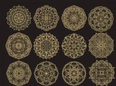 圆形精致花纹设计
