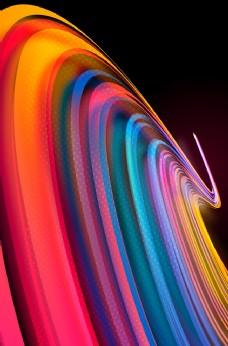 渐变线条立体未来科技背景素材