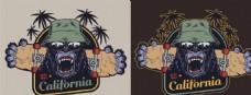 黑猩猩创意插画图案印花