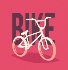 卡通自行车插画