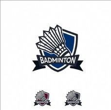 羽毛球俱乐部会徽标志设计