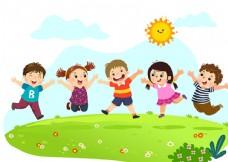 卡通儿童学习乐园背景墙
