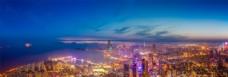 青岛城市风光夜景
