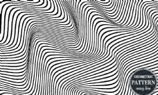 波形曲线元素抽象背景