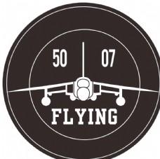 徽章 剪影 飞机 飞行