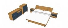 床skp模型