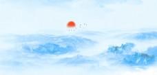 蓝色中国风背景