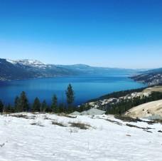 天空 河流 雪景
