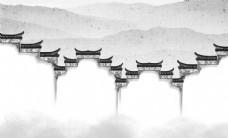 中式徽派建筑背景墙