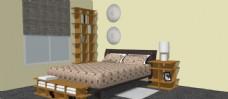 卧室skp模型