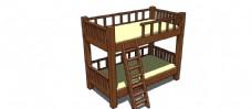 双层床skp模型