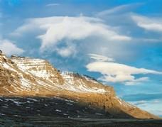天空 雪山
