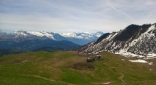 雪山 草地